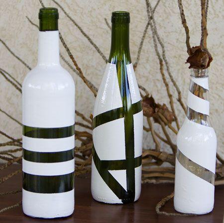 garrafa com fita crepe