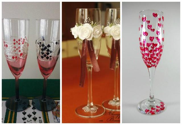 Taças decoradas para um brinde original! Blog Pitacos e Achados! Acesse: https://pitacoseachados.wordpress.com- #pitacoseachados