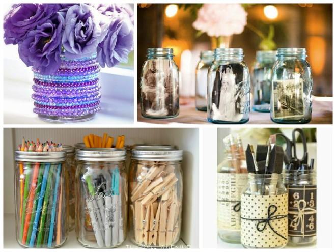 Transforme os potes de vidro em objetos de decoração