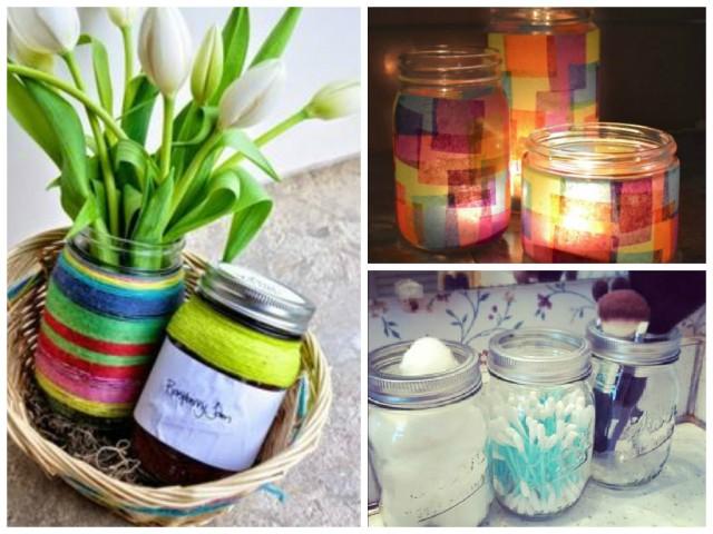 Transforme os potes de vidro em objetos de decoração1