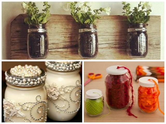 Transforme os potes de vidro em objetos de decoração2