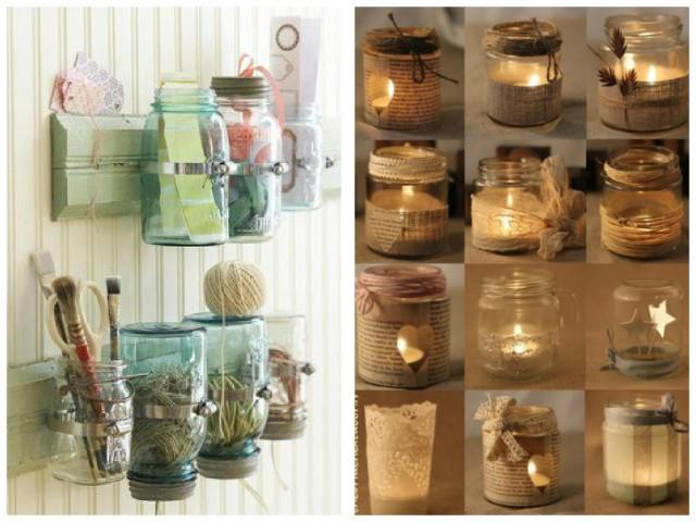 Transforme os potes de vidro em objetos de decoração3