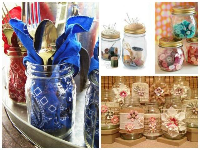Transforme os potes de vidro em objetos de decoração4