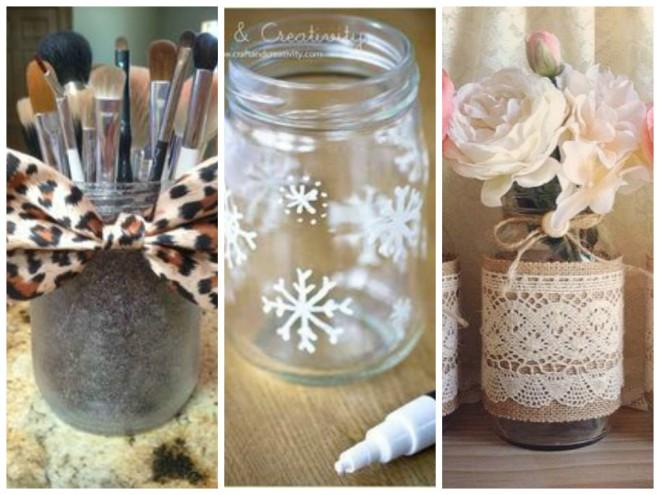 Transforme os potes de vidro em objetos de decoração5