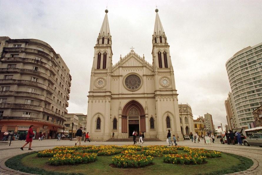 Bairro Centro_Praça Tiradentes Catedral Basílica Menor de Nossa Senhora da Luz. Foto: Luiz Costa/SMCS