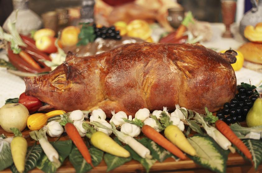 leitão assado - Pratos tradicionais da ceia de Natal
