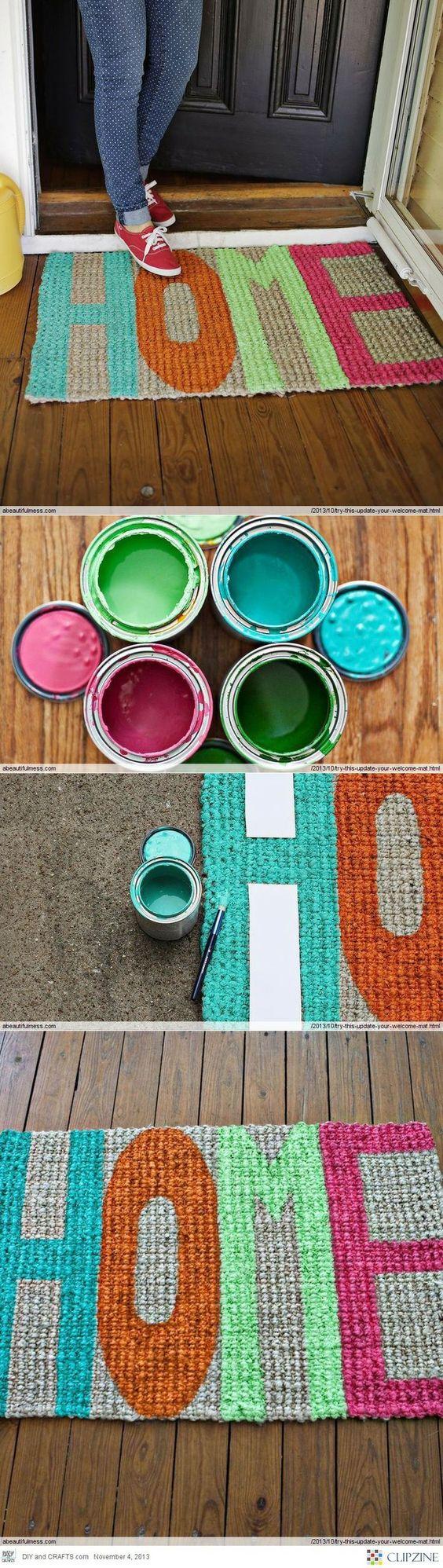 decorar gastando pouco tapete