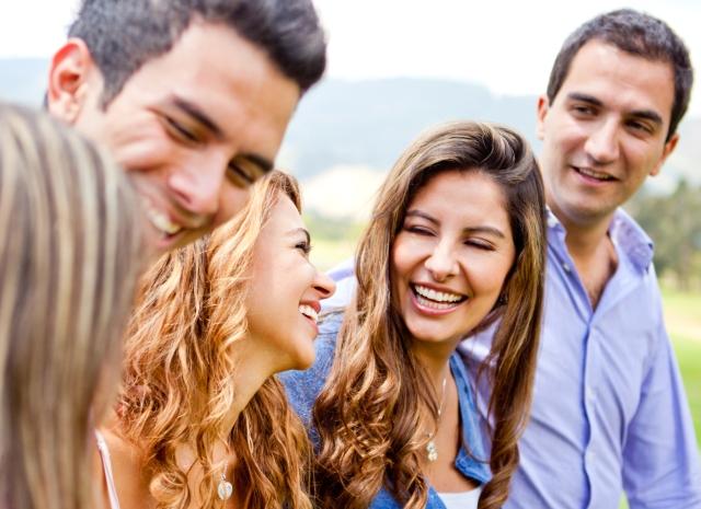 Happy-group-of-friends-talking