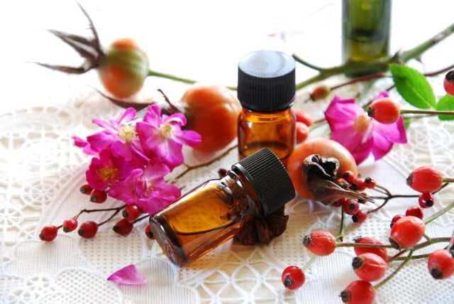 rose hips and essential oils