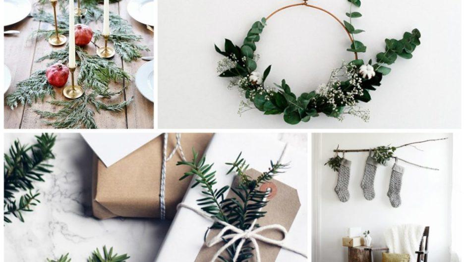 20 ideias minimalistas de decoração de Natal