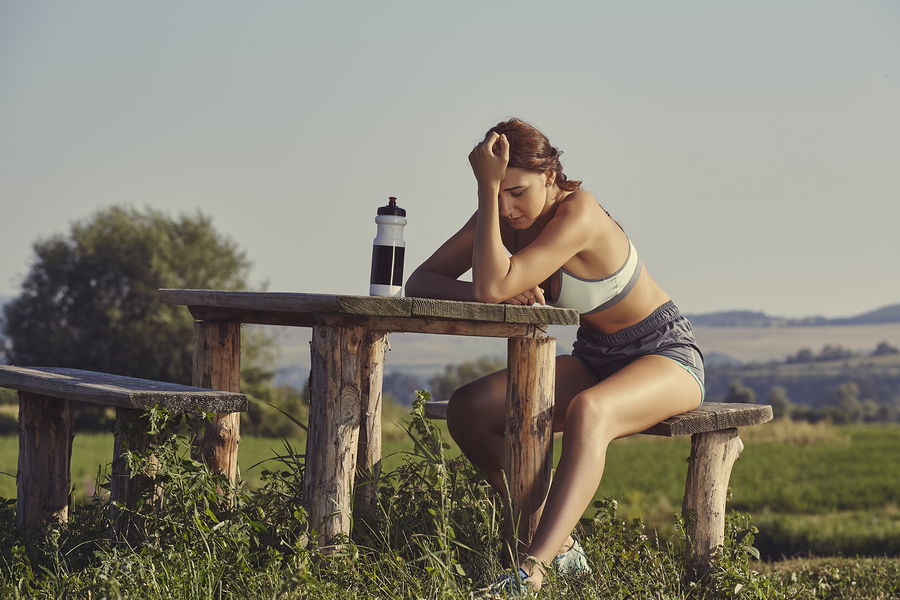 Exhausted Female Runner